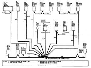 Mercedes-Benz 190E - wiring diagram - ground distribution (part 4)