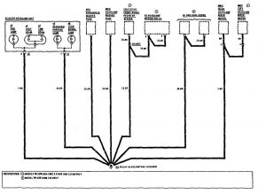 Mercedes-Benz 190E - wiring diagram - ground distribution (part 5)