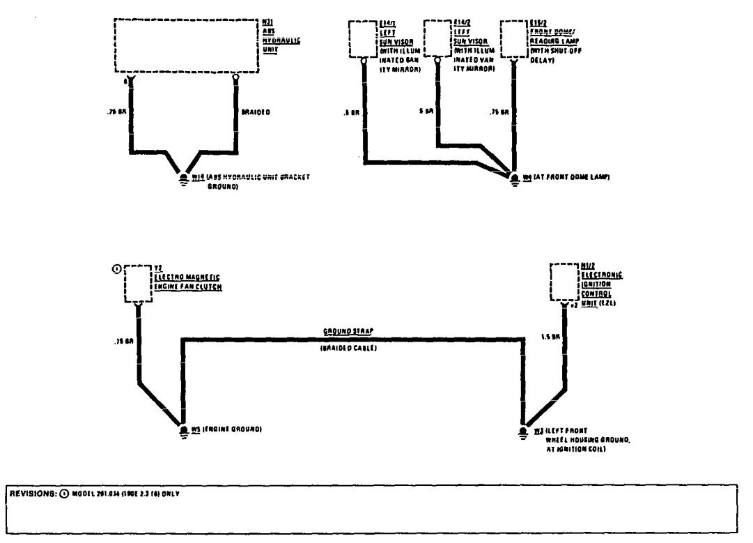 Mercedes Benz 190e 1990 1991 Wiring Diagrams Ground Magnetic Engine Diagram Distribution Part 6