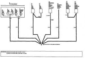 Mercedes-Benz 190E - wiring diagram - ground distribution (part 8)