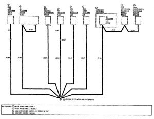 Mercedes-Benz 190E - wiring diagram - ground distribution (part 9)