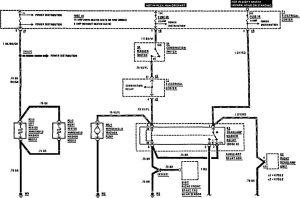 Mercedes-Benz 190E -  wiring diagram -  headlamps (part 1)
