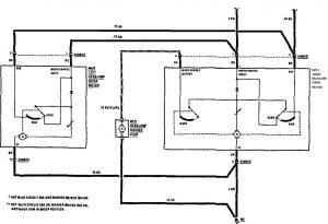 Mercedes-Benz 190E -  wiring diagram -  headlamps (part 2)