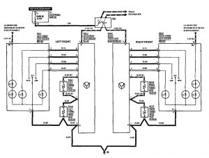 Mercedes-Benz 190E - wiring diagram - heated seats