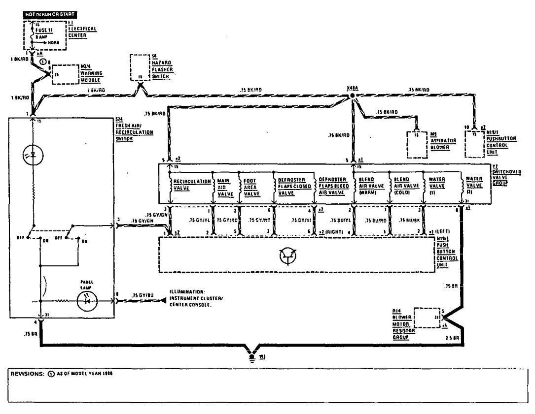 Mercedes Benz 190e 1990 Wiring Diagrams Hvac Controls Schematic