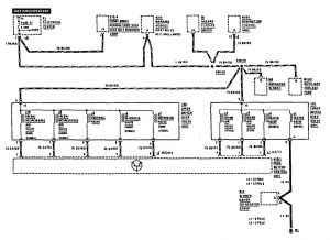 Mercedes-Benz 190E -  wiring diagram - HVAC controls (part 2)