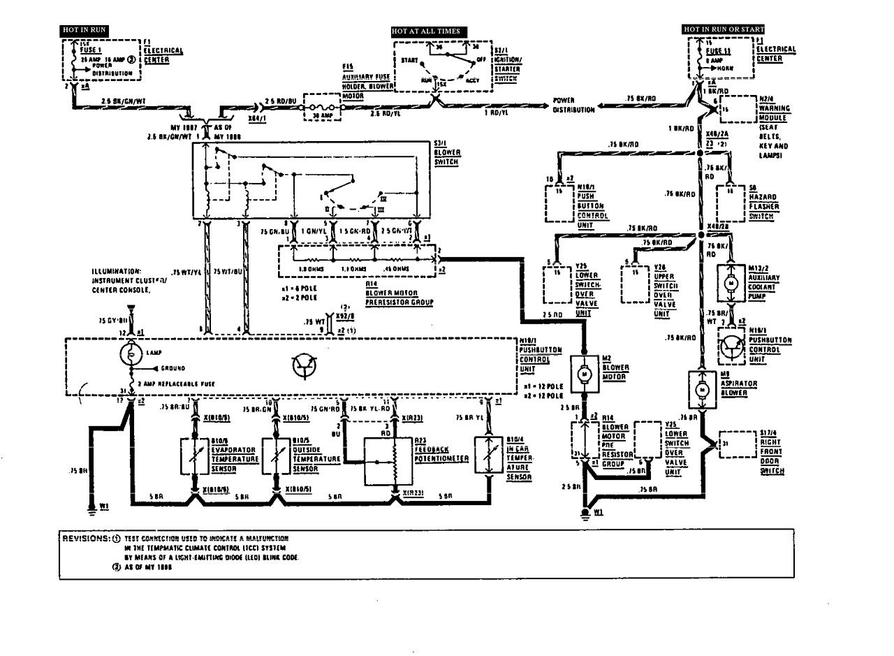 Mercedes Benz 190e 1991 Wiring Diagrams Hvac Controls Diagram