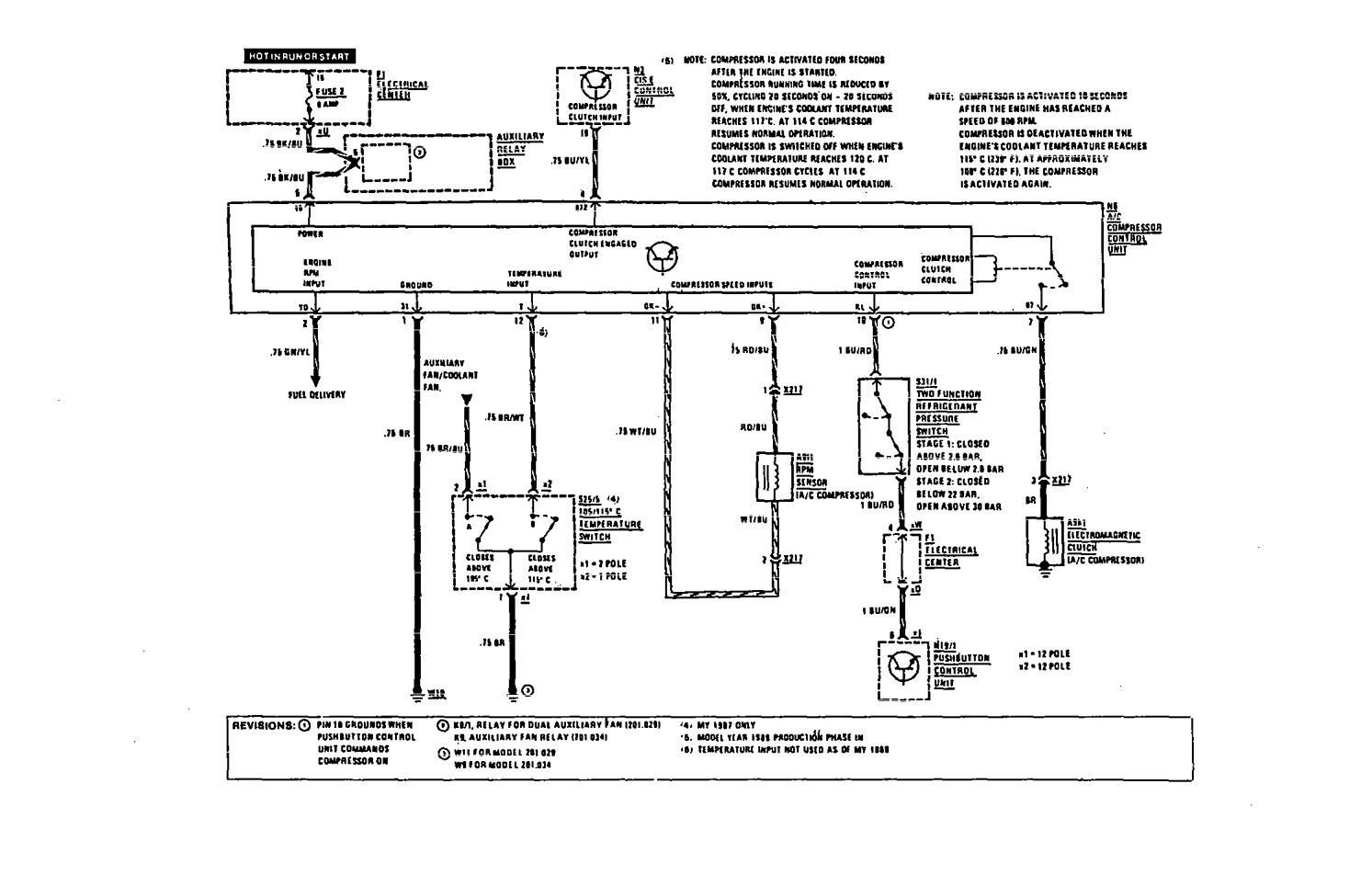Mercedes Benz 190e 1991 Wiring Diagrams Hvac Controls Diagram For Part 2