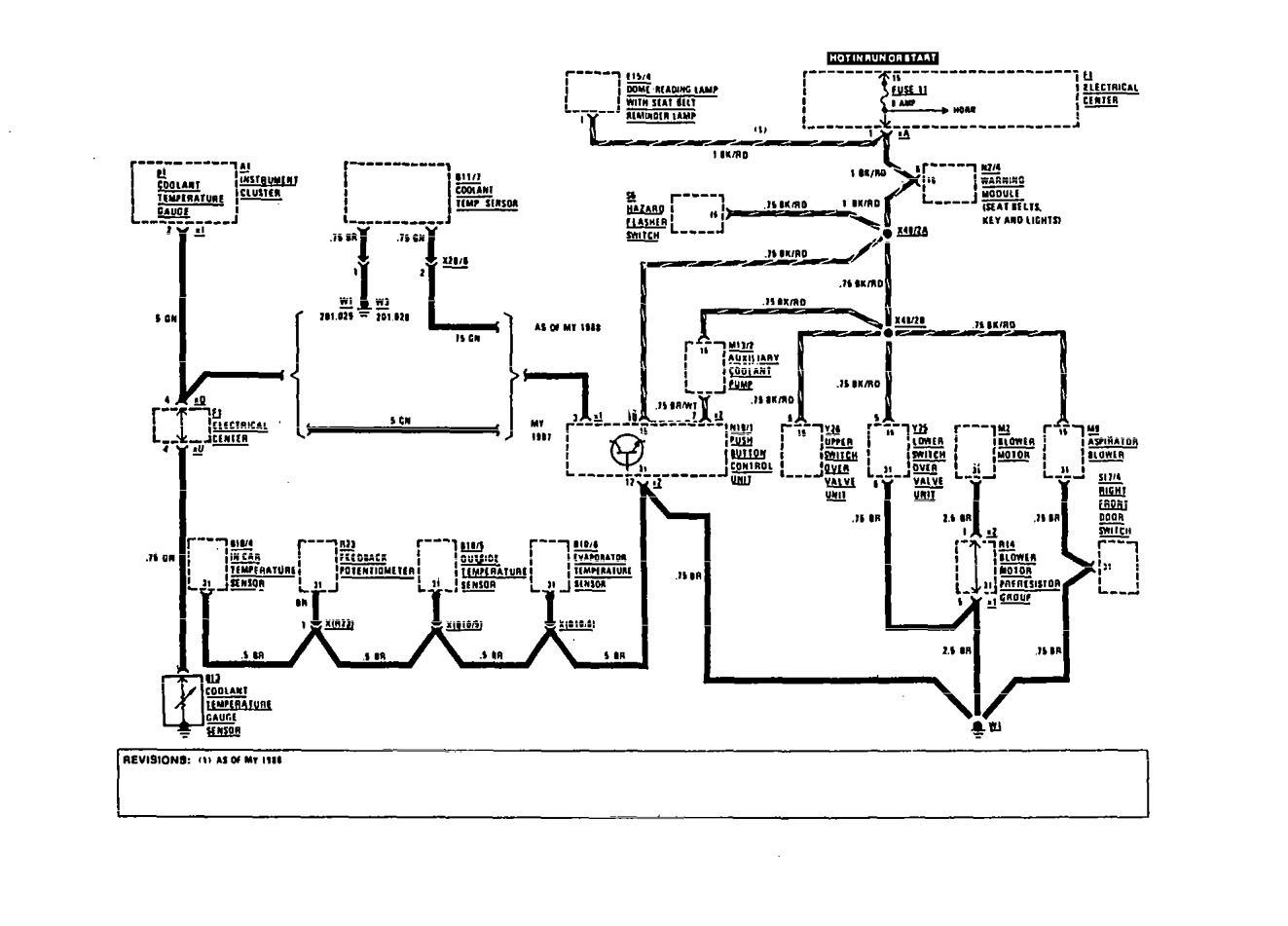 Mercedes-Benz 190E (1991) - wiring diagrams - HVAC Controls ...