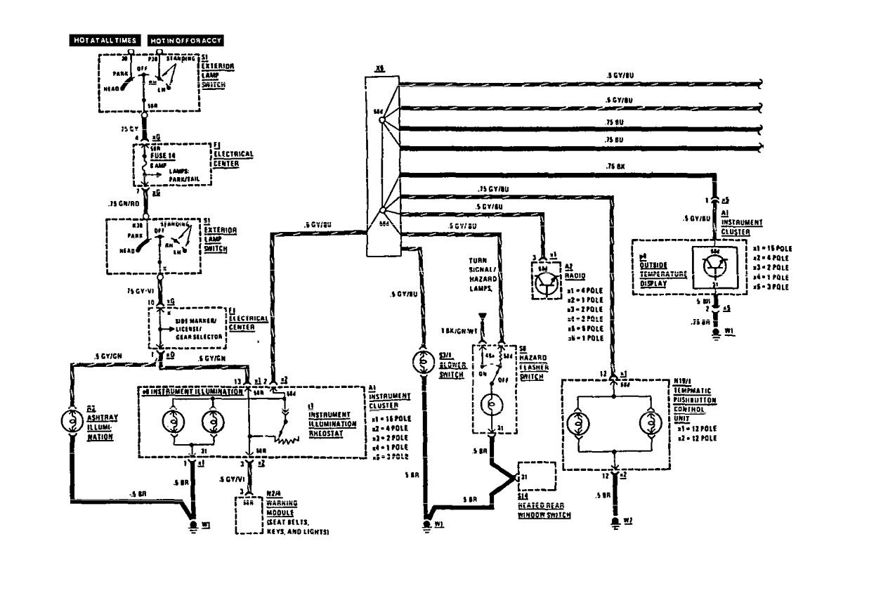 Mercedes Benz 190e Electrical Wiring Diagram Download Trusted For Block And Schematic 1991 Diagrams Instrument