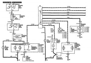 Mercedes-Benz 190E - wiring diagram -  instrument panel lamps (part 2)