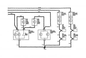 Mercedes-Benz 190E-  wiring diagram -  instrument panel lamps (part 2)