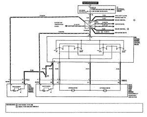 Mercedes-Benz 190E - wiring diagram - power mirrors