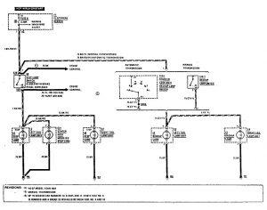 Mercedes-Benz 190E -  wiring diagram - reverse lamp