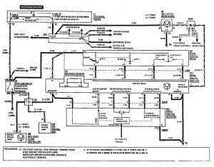 Mercedes-Benz 190E -  wiring diagram - speed controls