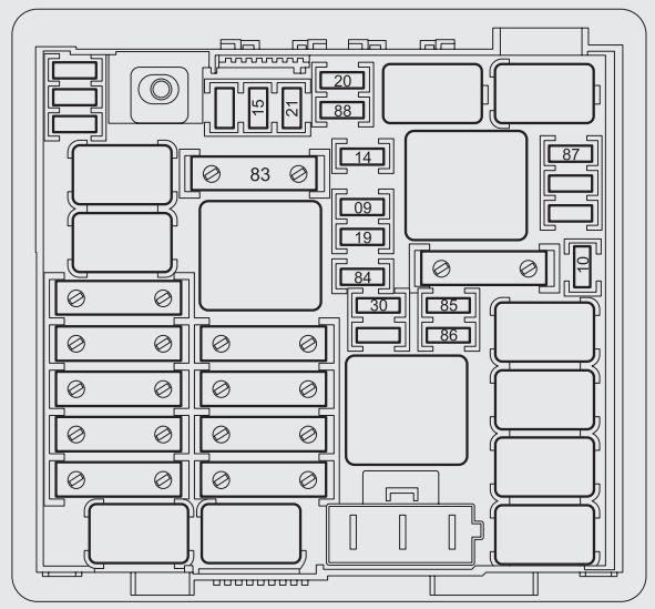 Abarth Punto 2012  2012  U2013 2014   U2013 Fuse Box Diagram