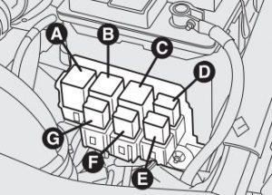 Alfa Romeo 156FL - wiring diagram - fuse box diagram - engine bay relay2
