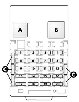 Alfa Romeo 166 FL (2003 – 2007) – fuse box diagram ... on 87 toyota fuse box, 87 trans am fuse box, 87 gmc fuel pump relay,