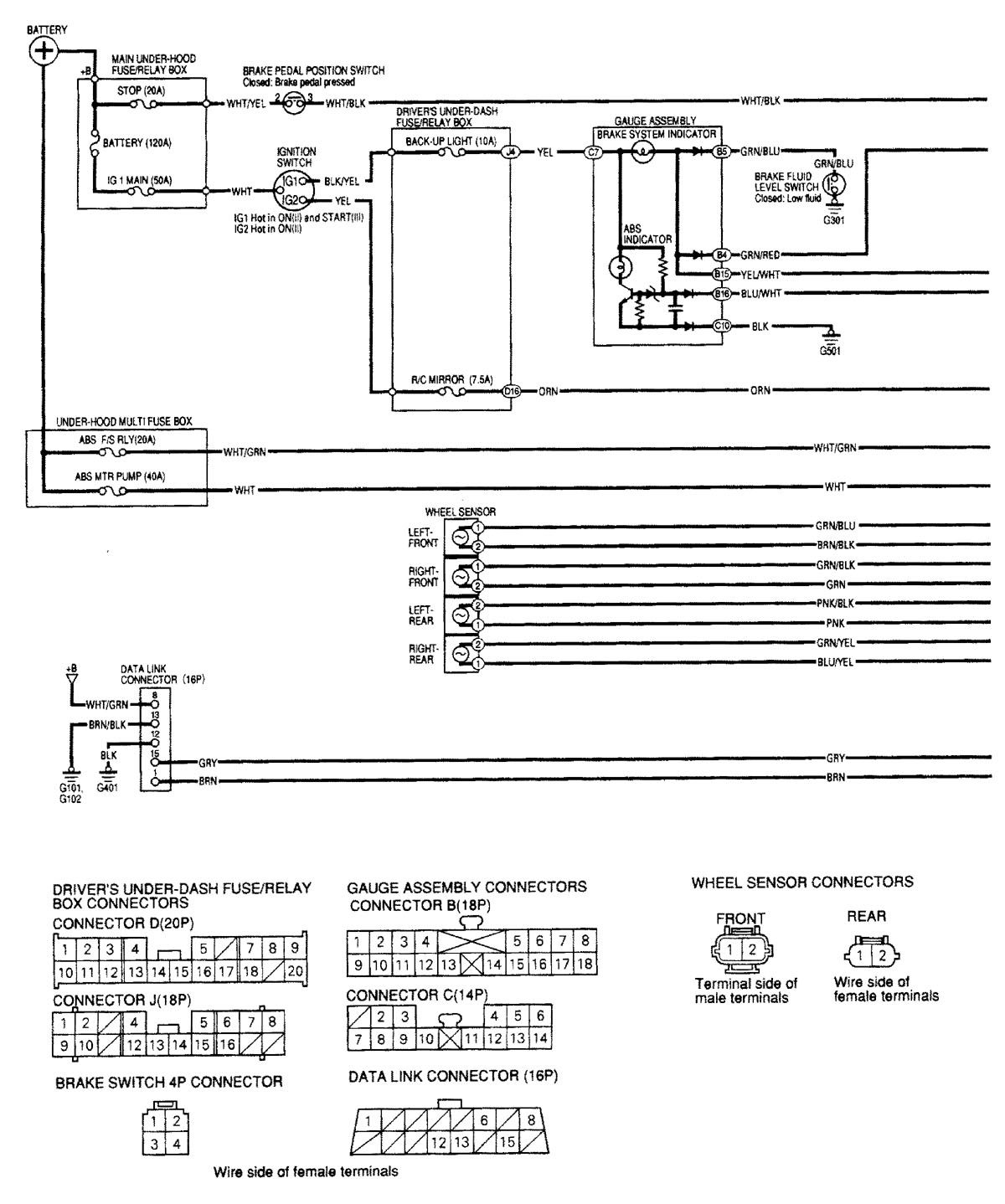 Acura Mdx Wiring Diagram Trusted 1 6 El 2001 Diagrams Brake Controls Carknowledge Ignition