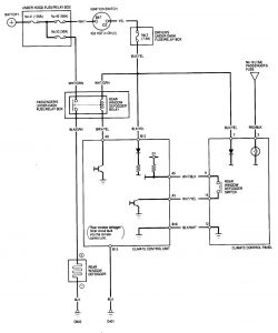 Acura MDX - wiring diagram - rear window defogger