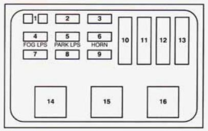 buick regal  1994   u2013 fuse box diagram