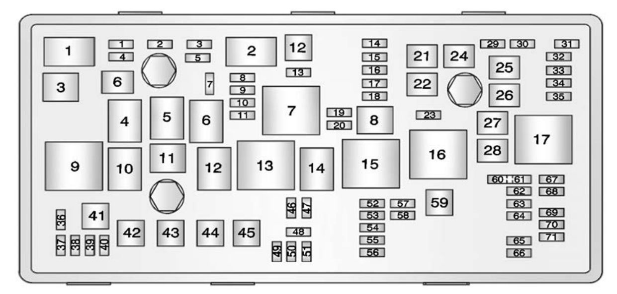 Buick Regal  2013   U2013 Fuse Box Diagram
