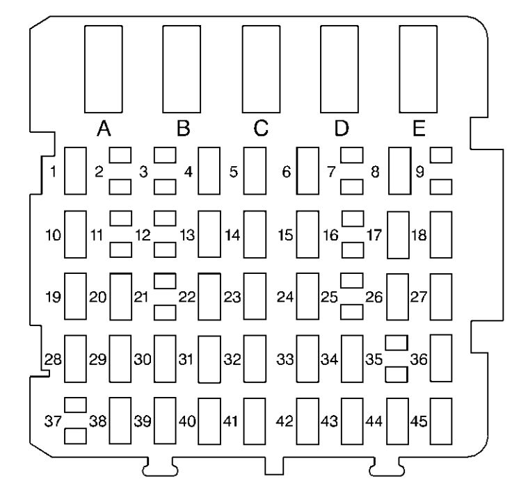 buick regal  1997  u2013 1999   u2013 fuse box diagram
