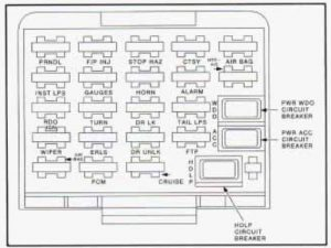 Buick Skylark - wiring diagram - fuse box diagram