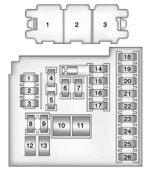 Buick Verano  2012  U2013 2013   U2013 Fuse Box Diagram