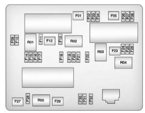 Buick Verano - wiring diagram - fuse box diagram - rear compartment