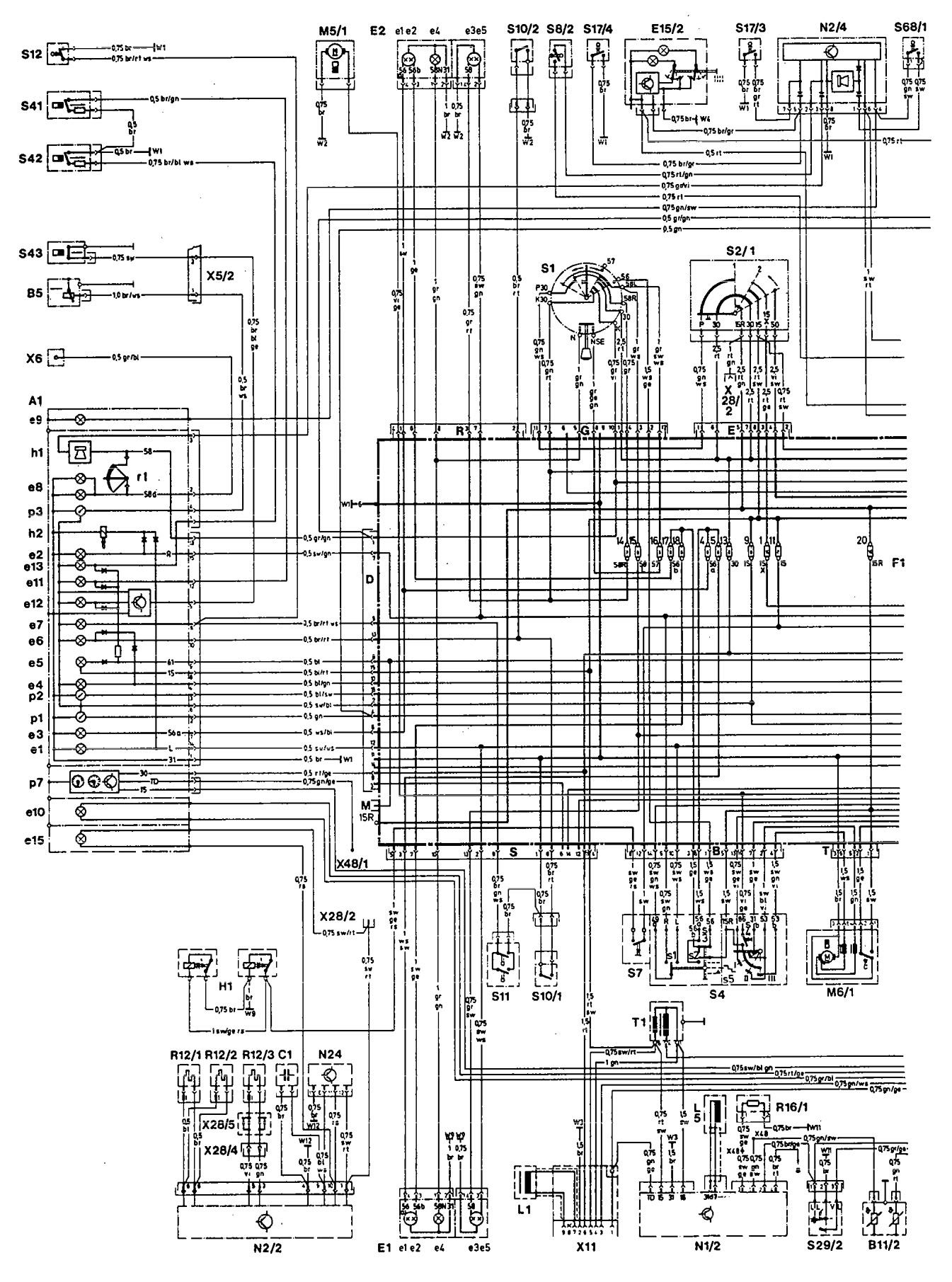 Mercedes 190E 1993 wiring diagrams instrumentation CARKNOWLEDGE