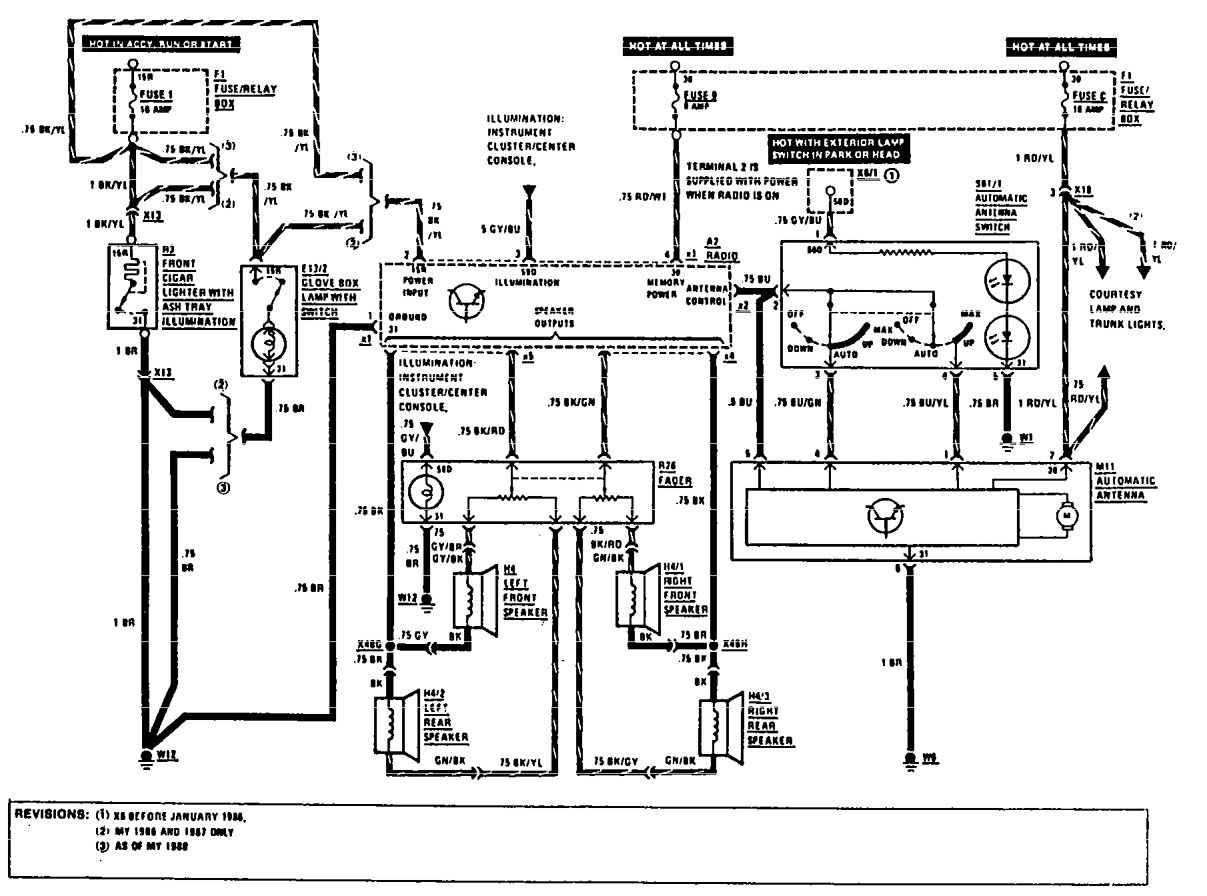 1976 Mercedes Wiring Diagrams