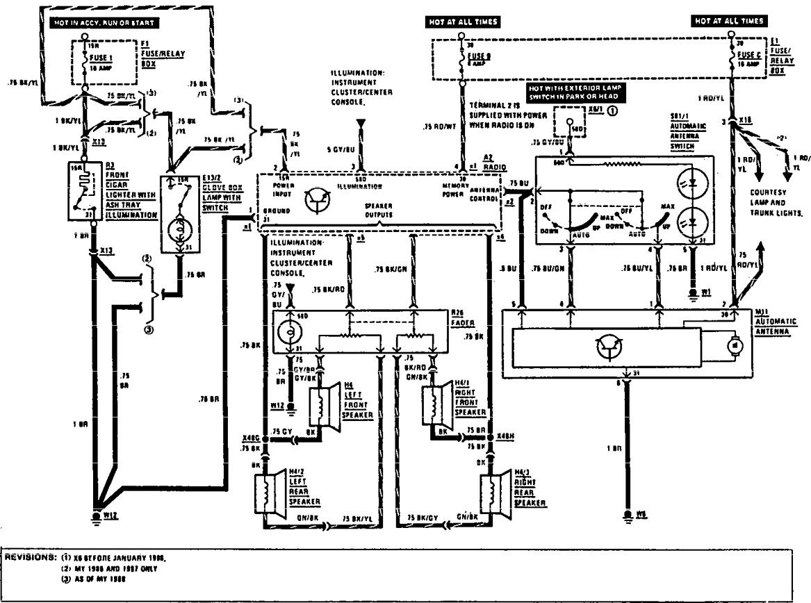 mercedes benz alternator wiring diagram