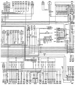 Mercedes-Benz 300CE - wiring diagram - audible warning system (part 2)