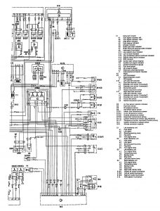 Mercedes-Benz 300CE - wiring diagram - audible warning system (part 3)
