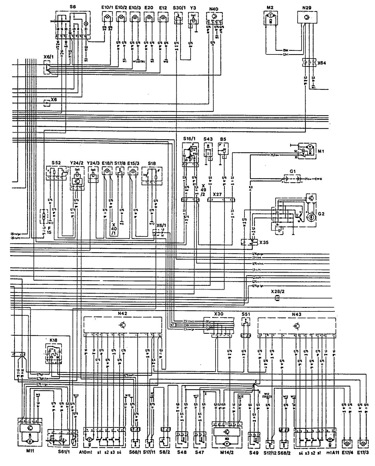 1966 mercedes 230s wiring diagram wiring diagram for Mercedes benz w124 230e wiring diagram