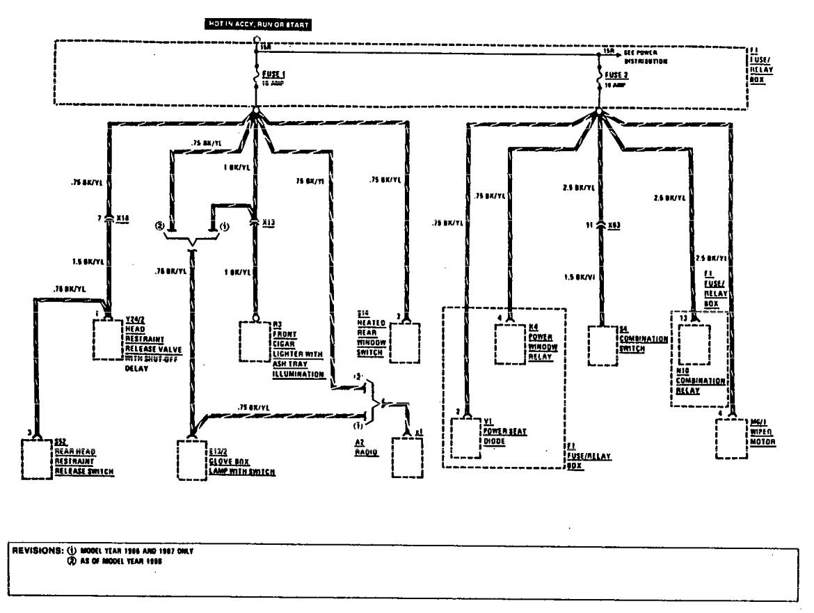 Window Wiring Diagram 1993 300ce Free Download W140 Fuse Box Mercedes Benz 1990 1991 Diagrams Panel