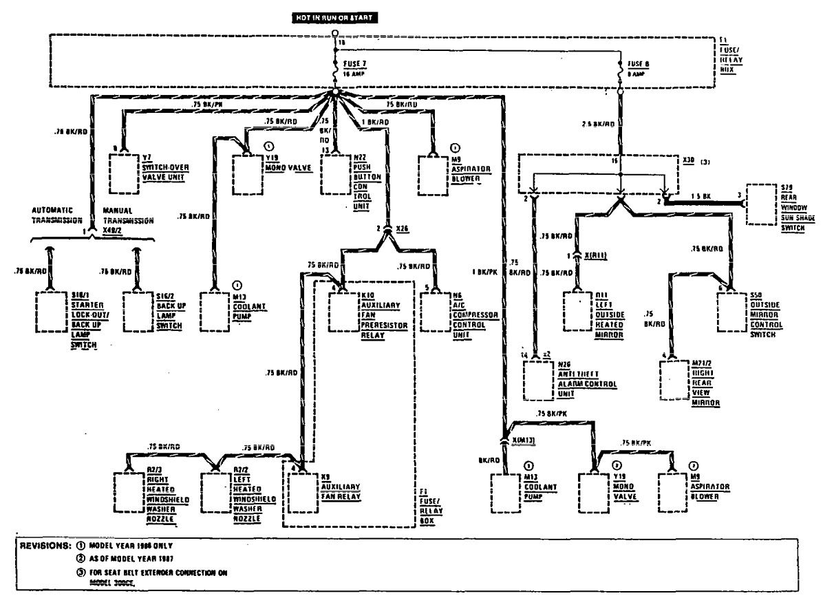 mercedes benz e230 wiring diagram mercedes-benz 300e (1990 - 1991) - wiring diagrams - fuse ... mercedes benz stereo wiring diagram