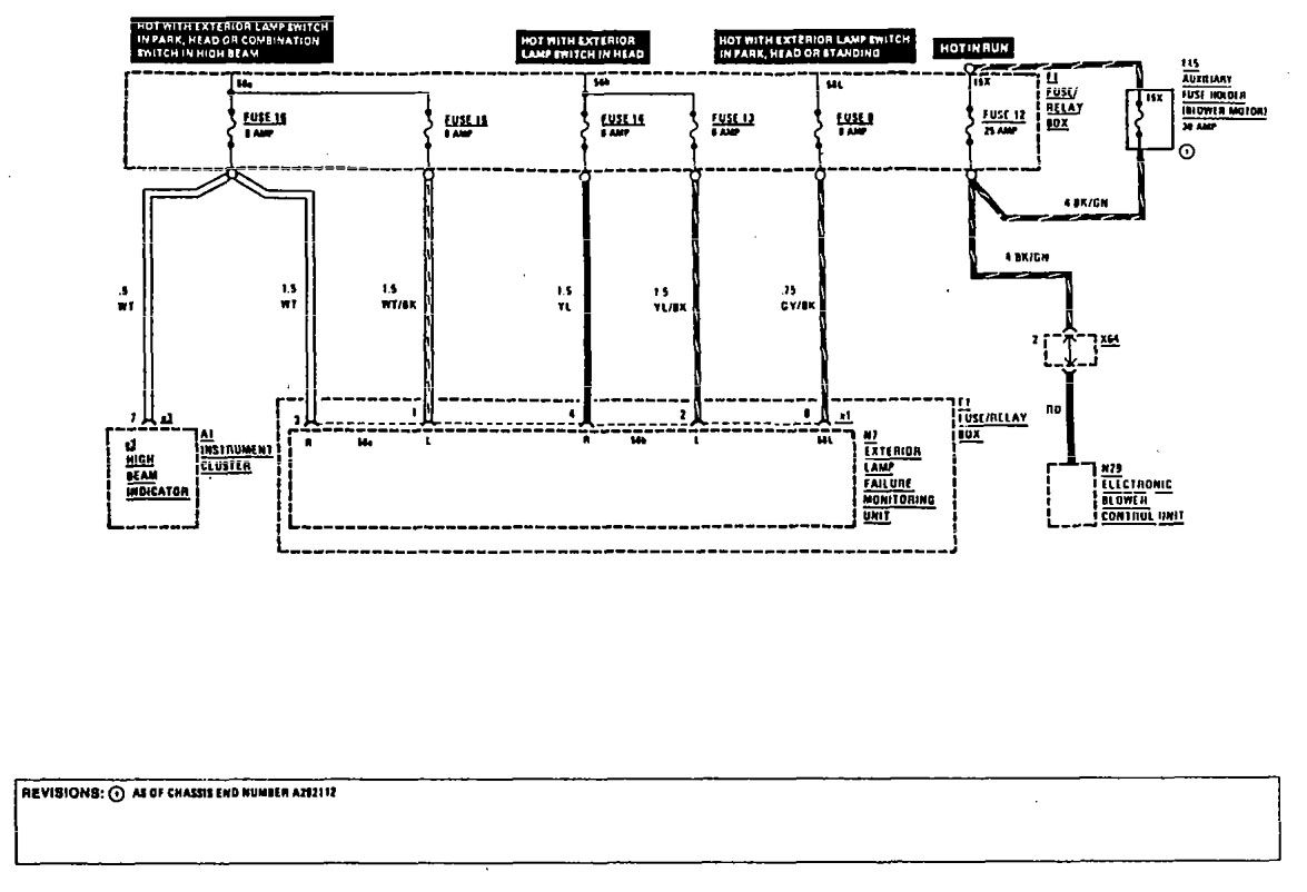 Mercedes Benz 300ce 1990 1991 Wiring Diagrams Fuse Panel 88 Toyota Diagram Box Part 5