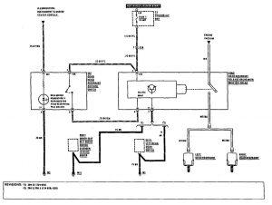 Mercedes-Benz 300CE - wiring diagram - head restraints