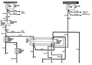 Mercedes-Benz 300CE - wiring diagram - headlamps (part 1)