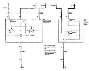 Mercedes-Benz 300CE - wiring diagram - headlamps (part 2)