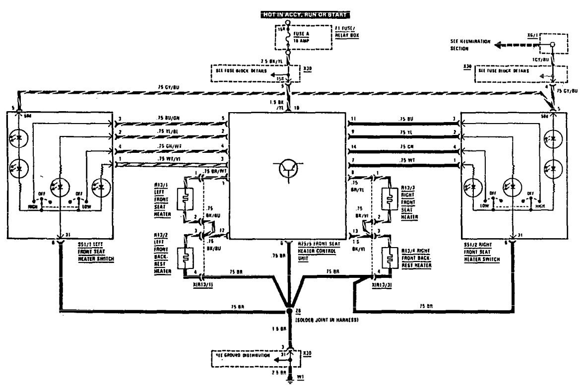 Wiring Diagram For Mercedes 300ce Wire Data Schema 1974 Benz Diagrams 300e 1990 1991 Color Codes