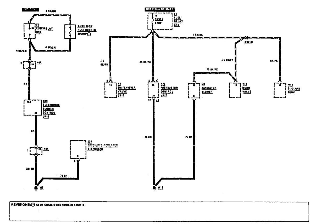 Mercedesbenz 300e 1990 1991 Wiring Diagrams Hvac Controls. Mercedesbenz 300e 1990 1991 Wiring Diagrams Hvac Controls. Mercedes Benz. 1991 Mercedes Benz 500sl Relay Diagram At Scoala.co