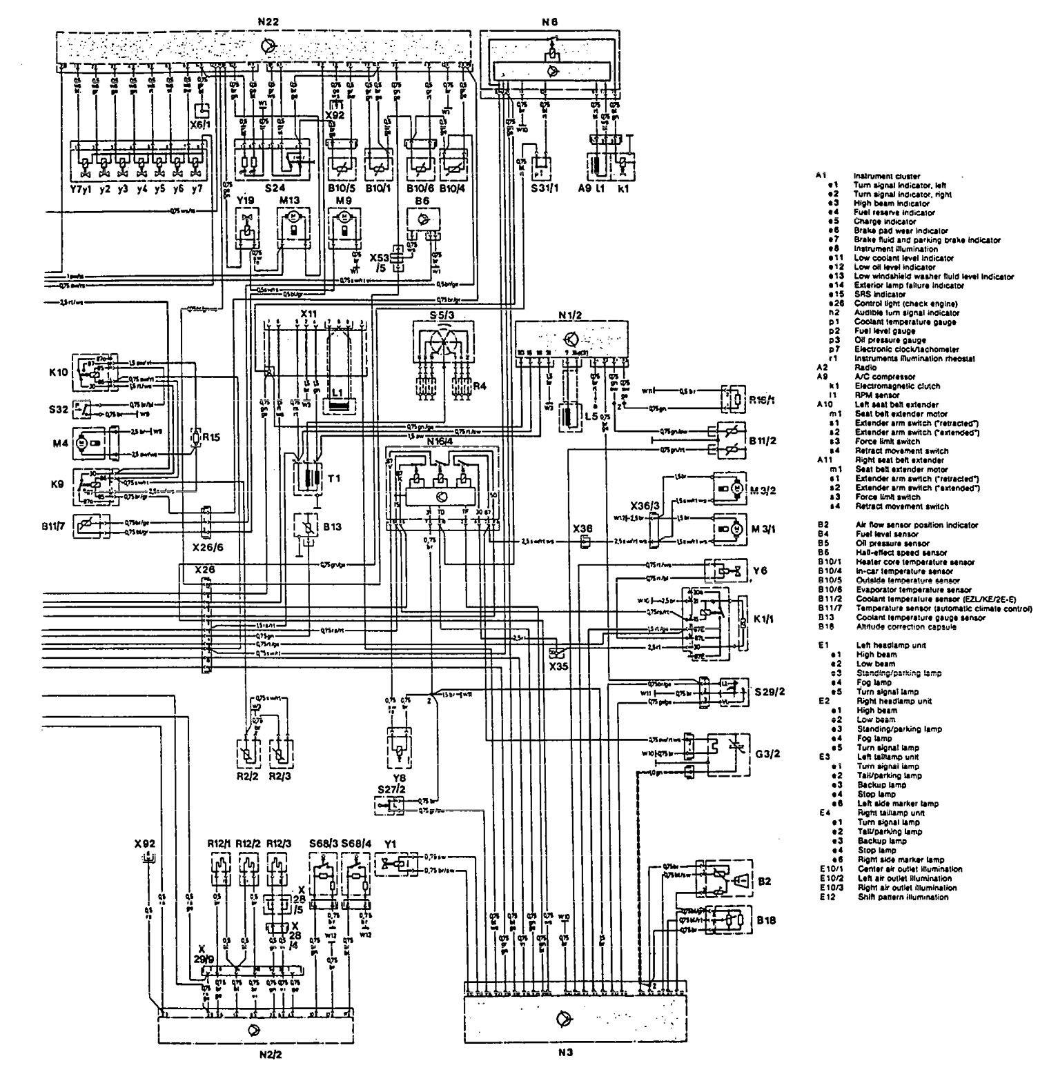 mercedes-benz 300ce (1992 – 1993) – wiring diagrams – interior lighting