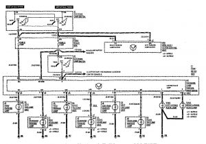 Mercedes-Benz 300CE - wiring diagram - license plate lamp