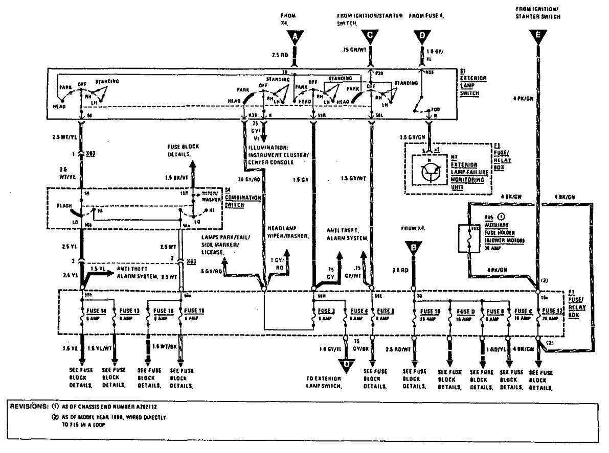 wiring diagram for mercedes 300ce