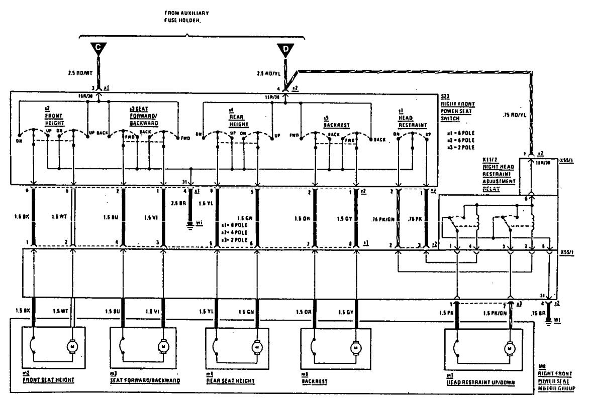 mercedes-benz 300ce  1990  - wiring diagrams