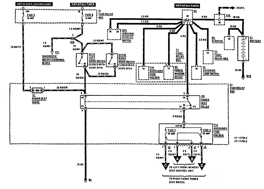 Mercedes Benz 1990 300e Wiring Diagram Complete Diagrams For C180 Power Seat Carknowledge Rh Info Rims 1999