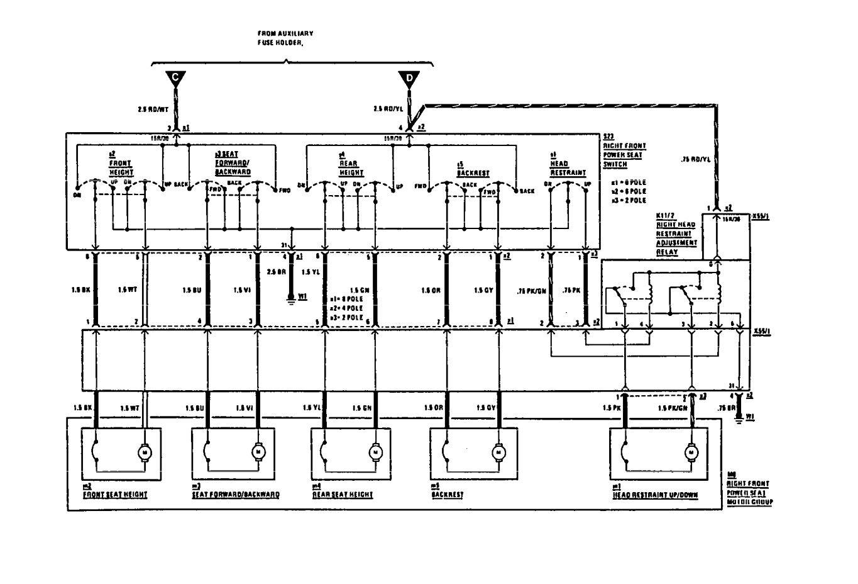 mercedes-benz 300ce  1991  - wiring diagrams